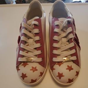 Coach Pink and White Sneakers Size 8